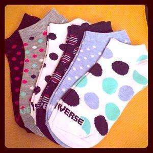 🆕 Converse Flat Knit No Show Socks, 6PK